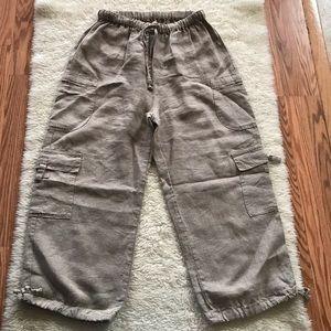 FLAX Linen Drawstring Pants Size Small